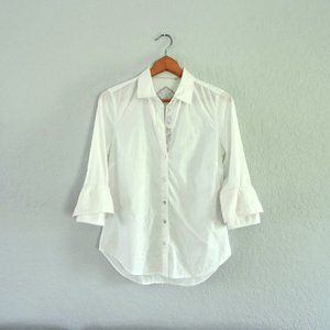 Robert Graham white blue floral embroidered shirt